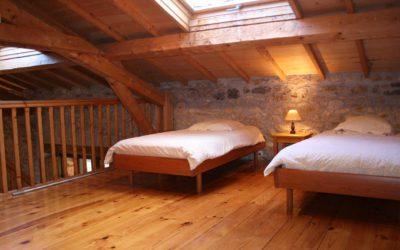 Chambre mezzanine avec deux lits jumeaux