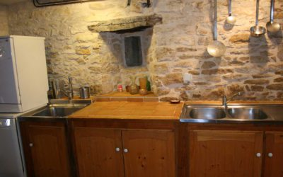 Aperçu de la cuisine du Hameau du Manoir de La Gabertie