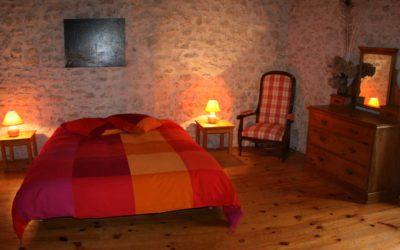 Grande chambre double au premier étage au Hameau de La Gabertie