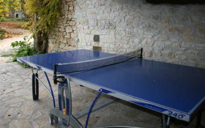 Table de ping-pong au Hameau du Manoir de La Gabertie